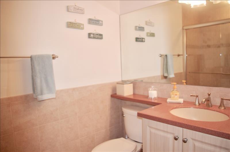 Corian counters; spacious bath