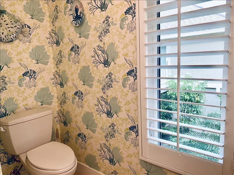 Single vanity; water closet