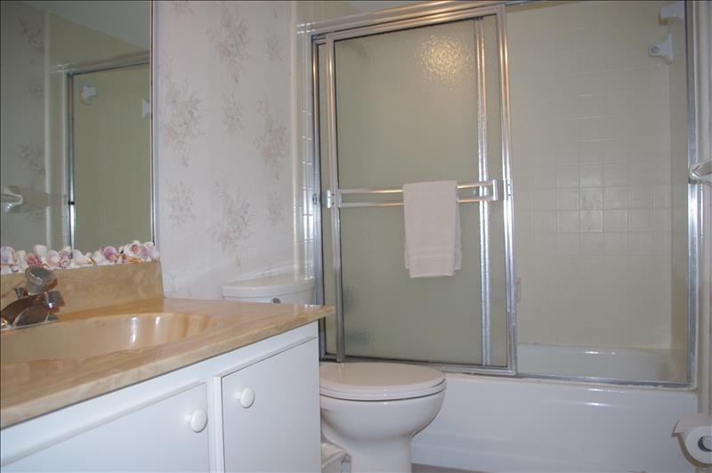 The Guest Bath is adjacent to the Guest bedroom.