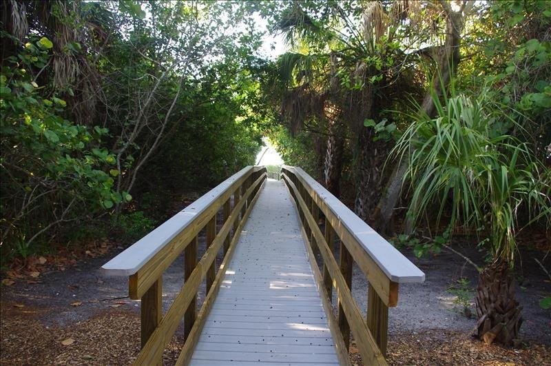 The boardwalk to the beach.