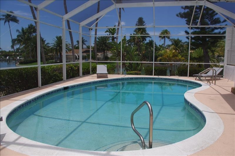 The pool has solar and electric heat.