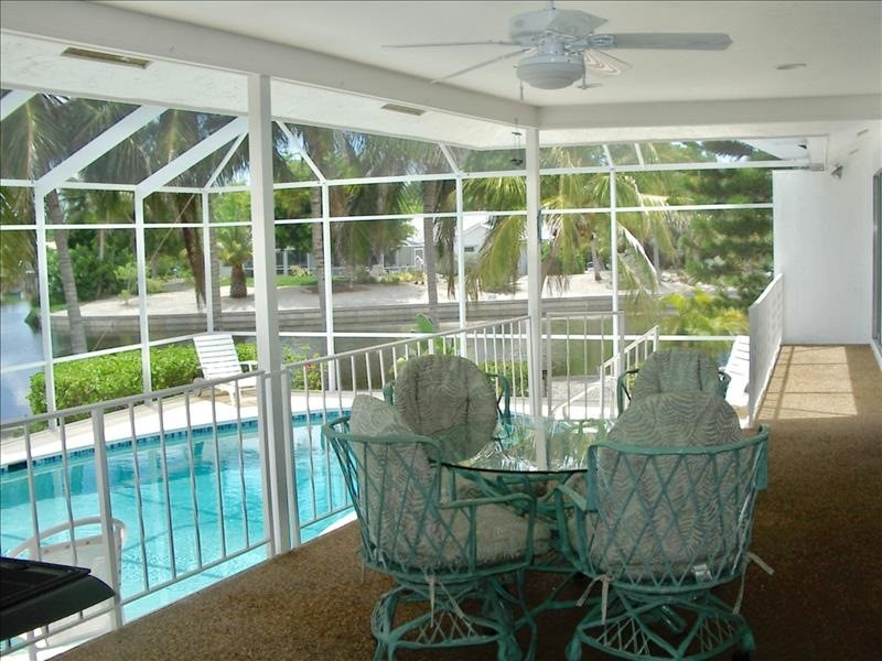 Enjoy sunsets from the screened lanai.