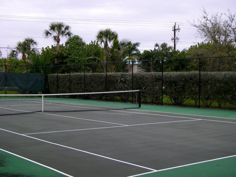 Bring your racquet and enjoy a game of tennis.