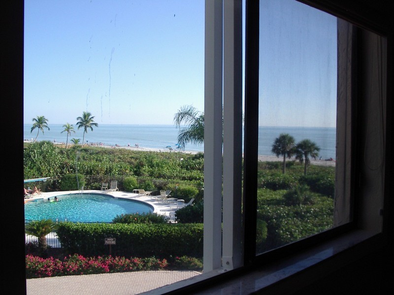 The view from the twin bedroom.