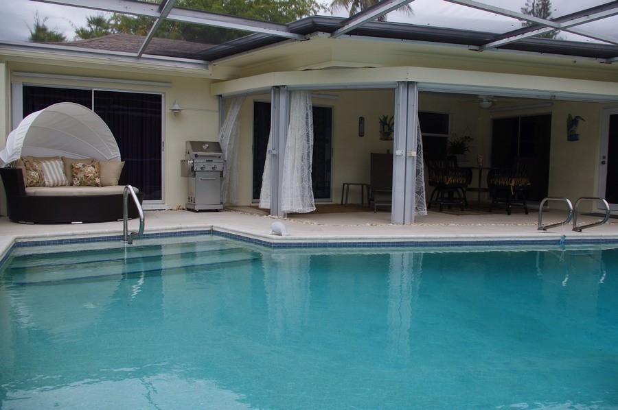 The outdoor pool at Las Ondas is heated seasonally.
