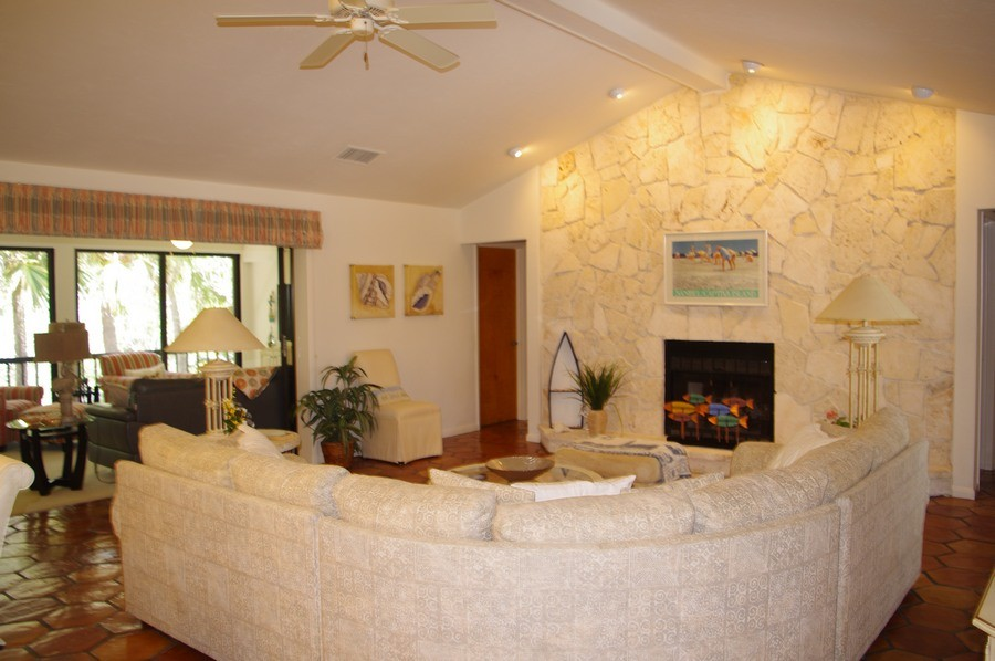 Enjoy the fireplace and expansive space.