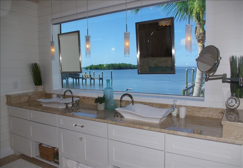 What a way to start the day - Master Bathroom vanity view.