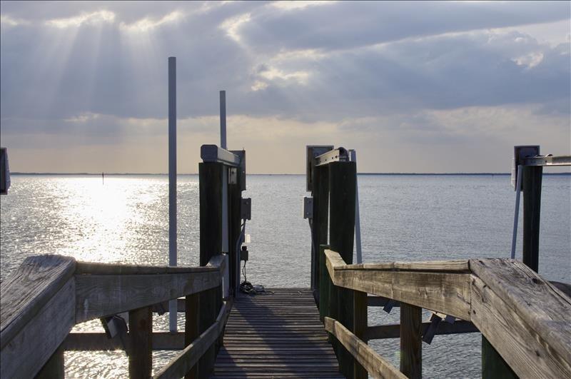 Dock overlooking Tarpon Bay.