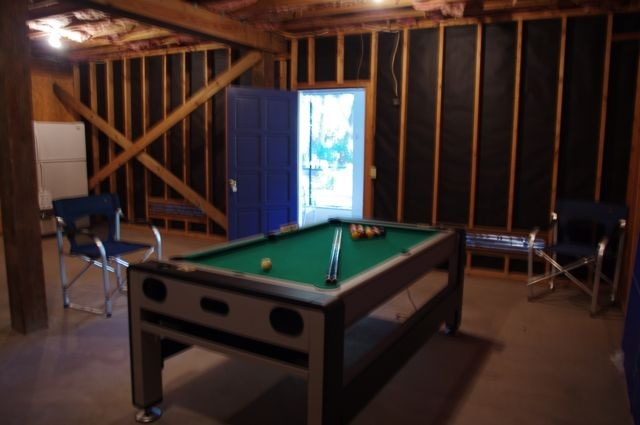 Enjoy ping pong, air hockey or billiards while you grill.